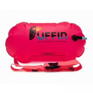 Pink Tow Float for safer swimming