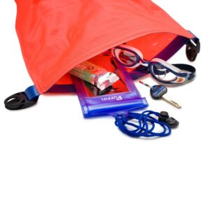 suggestion of items to take with you in your drybag float